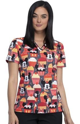 Tooniforms by Cherokee Women's Cute As A Cupcake Print Scrub Top