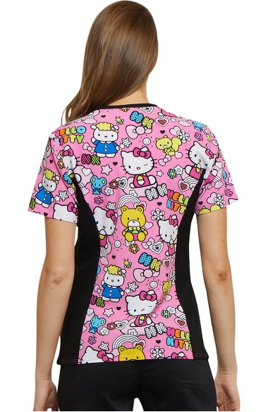 8313a4175ff Clearance Tooniforms by Cherokee Women's V-Neck Hello Kitty Print ...