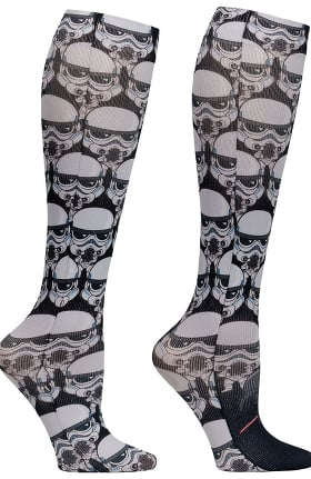 Tooniforms by Cherokee Women's 8-18 Mmhg Follow The Leader Print Compression Sock