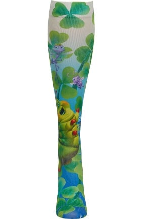 Tooniforms by Cherokee Women's 8-18 Mmhg I'm Beautiful Print Compression Sock