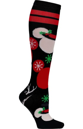Footwear by Cherokee Women's 8-18 Mmhg Mickey Holidays Print Compression Sock