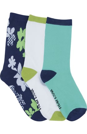 heartsoul Women's Think Poseytive Crew Socks 3 Pack