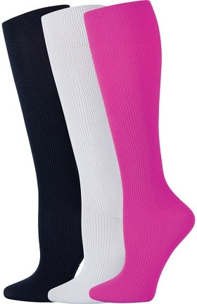 Footwear by Cherokee Women's True Support Socks 3 Pair Pack