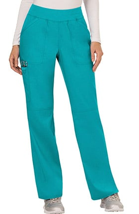 Revolution by Cherokee Workwear Women's Elastic Waistband Cargo Pull-On Scrub Pant