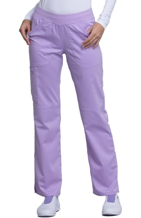 Clearance Revolution by Cherokee Workwear Women's Elastic Waistband Cargo Pull-On Scrub Pant
