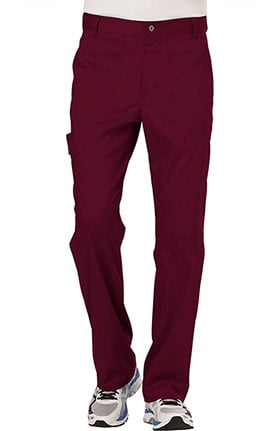 Revolution by Cherokee Workwear Men's Zip Fly Cargo Scrub Pant
