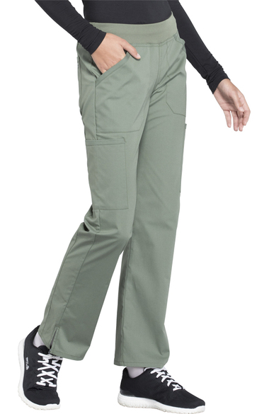 Olive Cherokee Scrubs Workwear Professionals Mid Rise Pull On Pants WW170 OLV