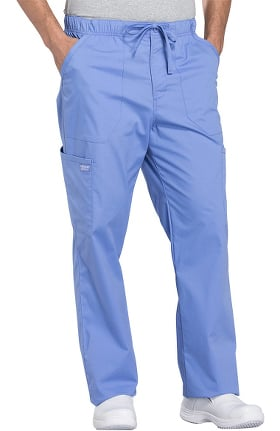 Professionals by Cherokee Workwear Men's Tapered Leg Zip Fly Drawstring Scrub Pant
