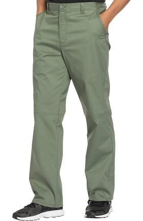 Clearance Core Stretch by Cherokee Workwear Men's Zip Fly Tapered Scrub Pant