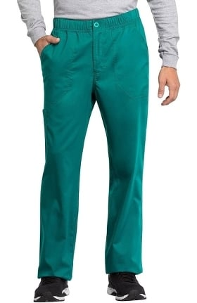 Revolution Tech by Cherokee Workwear Men's Zip Fly Drawstring Cargo Scrub Pant