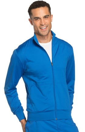 Core Stretch by Cherokee Workwear Unisex Zip Front Solid Scrub Jacket