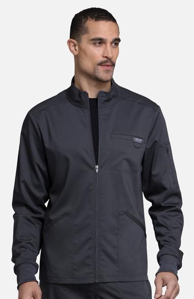 be74d94fac2 Revolution by Cherokee Workwear Men's Zip Up Solid Scrub Jacket | allheart.