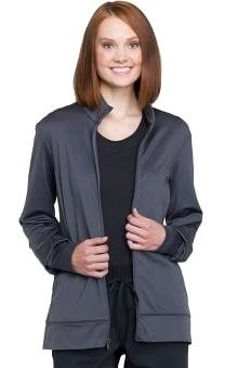 Revolution by Cherokee Workwear Unisex Zip Front Solid Scrub Jacket