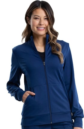 Revolution by Cherokee Workwear Women's Knit Solid Scrub Jacket
