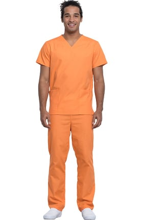 Clearance Cherokee Workwear Originals Unisex V-Neck Solid Scrub Top & Drawstring Scrub Pant Set