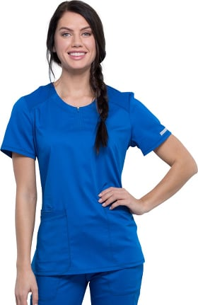 Revolution by Cherokee Workwear Women's Crew Neck Solid Scrub Top