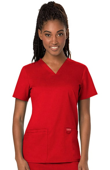 91eb50f87a91 Revolution by Cherokee Workwear Women s V-Neck Solid Scrub Top ...