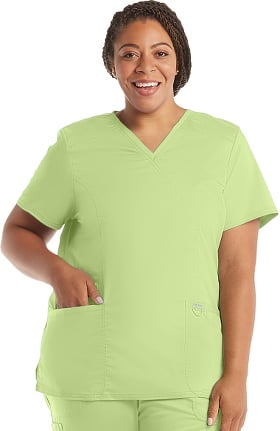 Clearance Revolution by Cherokee Workwear Women's V-Neck Solid Scrub Top