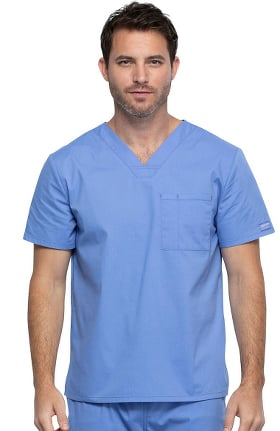 Professionals by Cherokee Workwear Unisex V-Neck Solid Scrub Top
