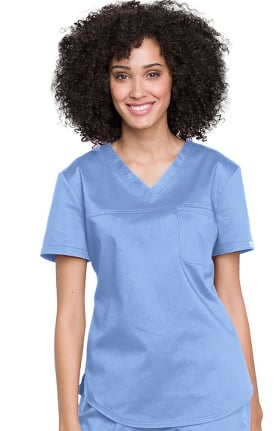 Revolution by Cherokee Workwear Women's V-Neck Tuck-In Solid Scrub Top