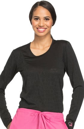 Core Stretch by Cherokee Workwear Women's Long Sleeve Solid Underscrub T-Shirt
