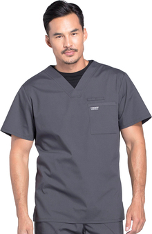 Professionals by Cherokee Workwear Men's V-Neck Solid Scrub Top