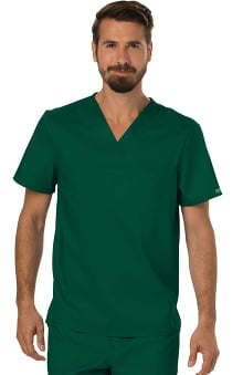 Revolution by Cherokee Workwear Men's V-Neck Solid Scrub Top