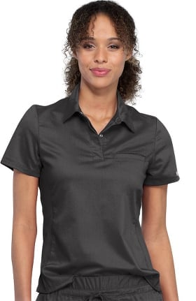 Revolution by Cherokee Workwear Women's Snap Front Polo Top