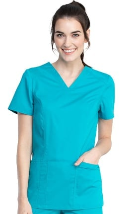 Revolution Tech by Cherokee Workwear Women's V-Neck Solid Scrub Top