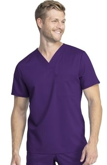 Revolution Tech by Cherokee Workwear Unisex V-Neck Solid Scrub Top