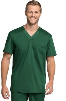 Revolution Tech by Cherokee Workwear Men's V-Neck Solid Scrub Top