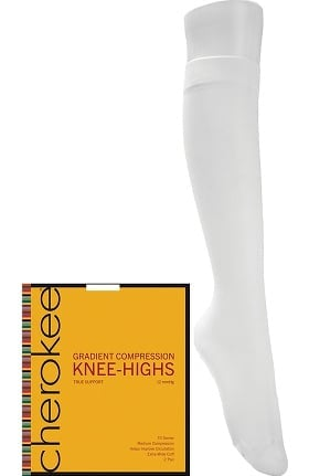 Footwear by Cherokee Women's 12 mmHg Compression True Support Knee Highs