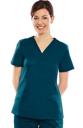 Stretch Flex by crush Women's Hype V-Neck Solid Scrub Top