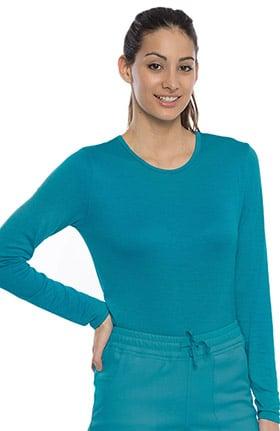 crush Women's Long Sleeve Silky Rayon Underscrub T-Shirt