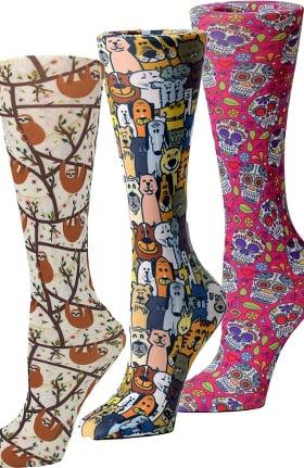 Cutieful Women's Animal Lover 8-15 Mmhg Print Compression Sock Set