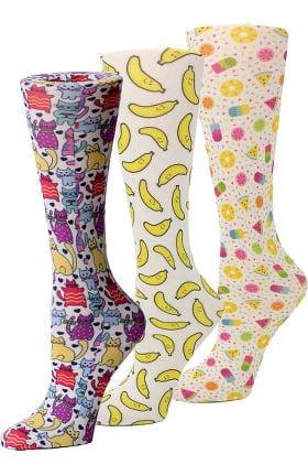 Cutieful Women's Fiesta 8-15 Mmhg Print Compression Sock Set