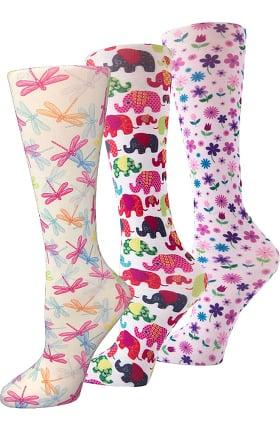 Cutieful Women's Think Pink 8-15 Mmhg Print Compression Sock Set