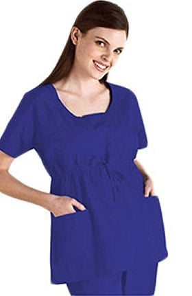 Clearance Everyday Scrubs by Dickies Women's Daisy Empire Waist Fashion Solid Scrub Top