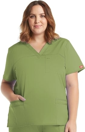 Clearance Gen Flex by Dickies Women's Junior Youtility Solid Scrub Top