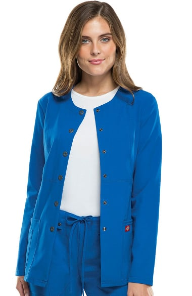 b99f6844390 Xtreme Stretch by Dickies Women's Crew Neck Warm Up Scrub Jacket |  allheart.com