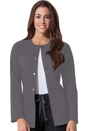 Gen Flex by Dickies Women's Crew Neck Solid Scrub Jacket