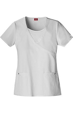 Clearance Xtreme Stretch by Dickies Women's Mock Wrap Solid Scrub Top