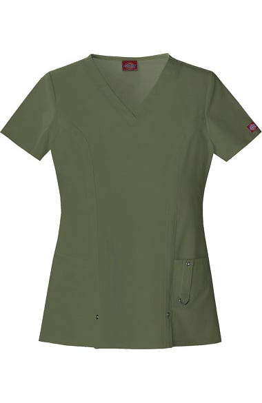 895ad3b4f7b Clearance Xtreme Stretch by Dickies Women's V-Neck Solid Scrub Top | allhea