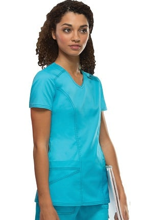 Clearance Gen Flex by Dickies Women's V-Neck Solid Scrub Top