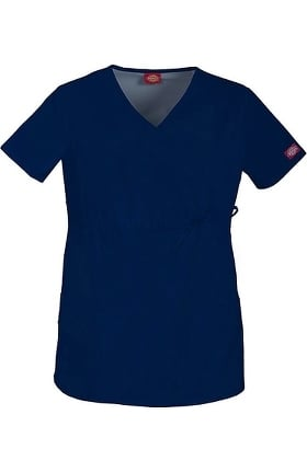 Clearance Gen Flex by Dickies Women's Maternity Mock Wrap Solid Scrub Top