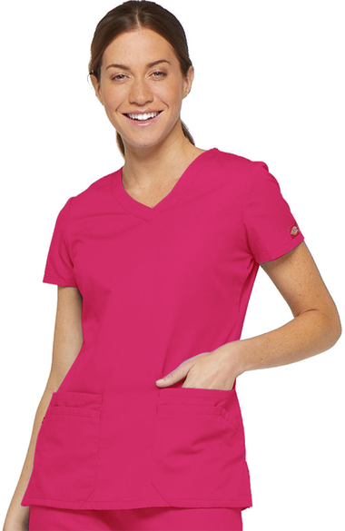 abdf6e359c0 Everyday Scrubs Signature by Dickies Women s V-Neck Solid Scrub Top