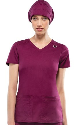Clearance Everyday Scrubs Signature Stretch by Dickies Women's V-Neck Scrub Top