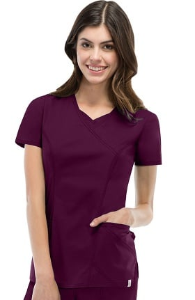 Clearance EDS Signature Stretch by Dickies Women's Mock Wrap Scrub Top