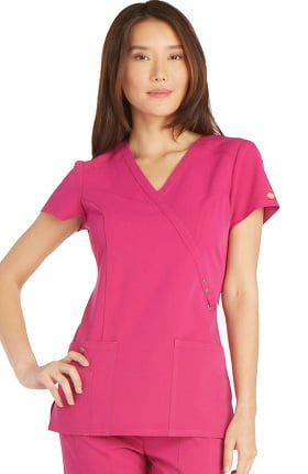 Clearance Xtreme Stretch by Dickies Women's Mock Wrap Scrub Top
