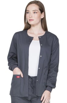 EDS Signature by Dickies Women's Snap Front Scrub Jacket